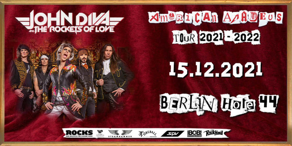 Tickets JOHN DIVA & THE ROCKETS OF LOVE, American Amadeus Tour 2021 in Berlin